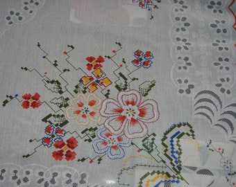 1960S TABLE CLOTH FLOWER Design