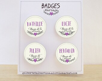 Custom badges Bohemian 3.8 cm / name