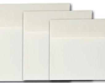 NATURAL 6 inch square Envelopes - 50 pack
