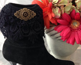 Steampunk boot cuffs