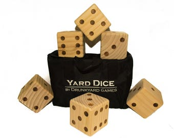Yard Yahtzee with carrying bag and double sided score sheet!