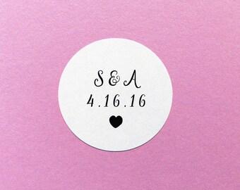 Custom Wedding Sticker, Wedding Date Stickers, Save The Date Stickers, Personalized Wedding Sticker, Envelope Seals, Wedding Invite Labels