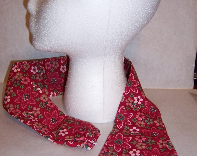 Red flowered fabric stethoscope cover