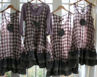 Plaid 'Maryse' Dress / By Breathe-Again Clothing / - by Breathe-Again Clothing