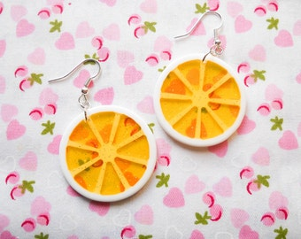 Lemon Slice Earrings, Lemon Earrings, Cute Earrings, Food Earrings, Fruit Earrings, Summer Earrings, Fun, Citrus, Kawaii, Earrings