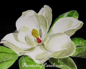 Magnolia Print, Magnolia Painting, Magnolia Giclee Print, Magnolia Art, Magnolia Wall Art, Magnolia Home Decor, Magnolia Wall Decor