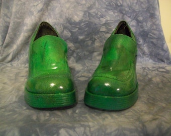 Custom Camouflage Painted Clogg Type Shoes Sz 7 1/2