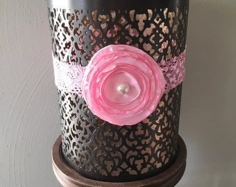 Pearl Rosette in Pink