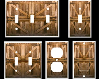 Barn Door  Rustic Home Decor Light Switch Cover plate  Home Decor  Free Shipping to U.S.!!!