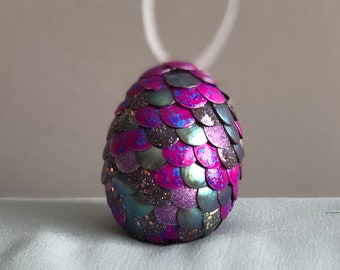 Dragon Egg Ornament - Pink and Green