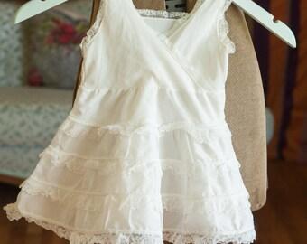 Vintage Girl's Slip  - Toddler White Ruffles Full Her Majesty