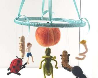 James & The Giant Peach Art Mobile Wall Hanging