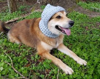Crochet PDF Pattern - Hound Hoodie - Dog Ear warmer - Dog Hoodie - Dog Scarf- Dog Bandanna - Pet Bandanna - Pet Accessories