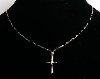 Sterling Silver Cross Pendant, Sterling Cross Pendant, Sterling Silver Necklace, Cross Pendant, Sterling Silver Cross
