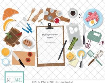 50% Off Sale Menu clip art, food clipart, vector graphics,restaurant clip art, digital clip art, meal digital images