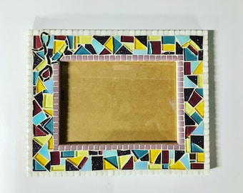 Personalized mosaic picture frame