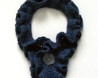 Double Ruffle Cowl - PDF Crochet Pattern - Instant Download