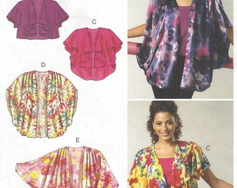 OOP McCalls Sewing Pattern M6468 Womens Unlined Vests & Jackets Cocoon Jackets Size 16 18 20 22 24 26 Bust 38 40 42 44 46 48 FF
