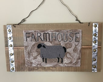 Farmhouse needlepunch