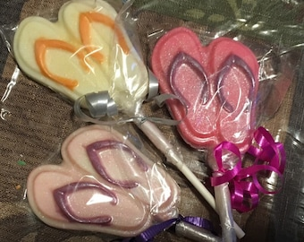 Flip flops chocolate lollipops