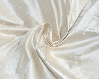 Silk Dupioni in cream - Half yard, Extra wide 54 inches - DEX 191