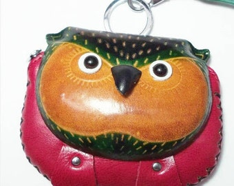 Owl coin purse || Red