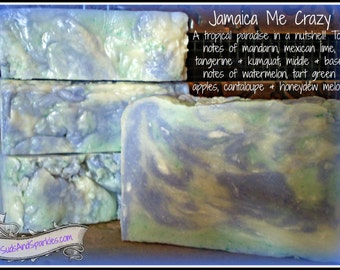 Jamaica Me Crazy - Rustic Suds Natural - Organic Goat Milk Triple Butter Soap Bar - 5-6oz. Each