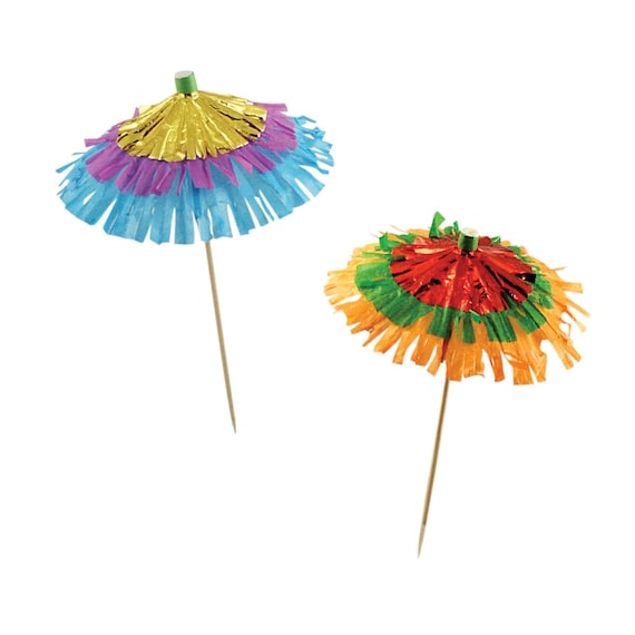 Drink Umbrellas. Cocktail Umbrellas. Umbrella Cocktail Sticks. Umbrella  Toppers. Tropical Party Stick. From Thepartydialect On Etsy Studio