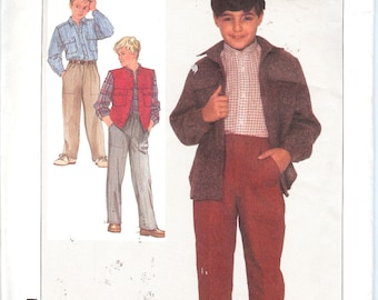 Simplicity 7064   Boys' Shirt, Pull-On Pants, and Unlined Vest      ID305