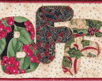 BFF Quilted Fabric Postcard