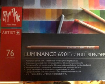 Pre-owned Caran d'ache Luminance HIGH QUALITY nicely sharpened amazing colored pencils, some barely used at all, some used.