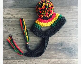 Rastafarian dog hat, rastafari dog hat, rasta dog hat, jamaican dog hat, pet hat, dog beanie, pet beanie, rastafarian pets, pet accessories