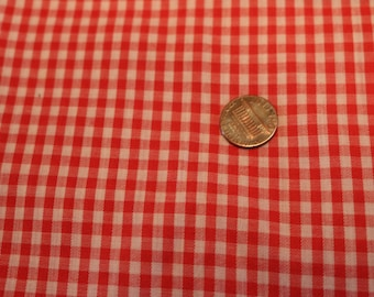 19 Vintage red Gingham cotton