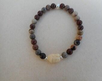 Bracelet Jasper Buddha