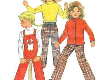 1970s Butterick 3370 sewing pattern // Children's Jacket, Overalls, Top and Pants