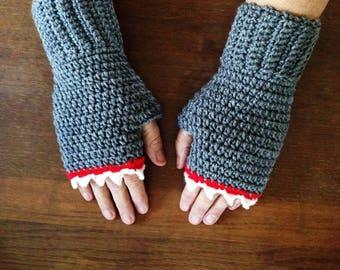 Shark Fingerless Gloves