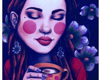 Flowerchild Art Print