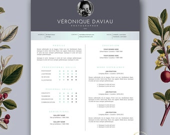 Customizable resume etsy resume template and free cover letter 3 page modern cv template creative resume template yelopaper Choice Image