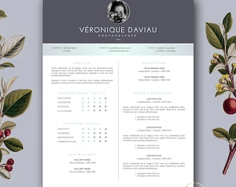 Free resume template etsy resume template and free cover letter 3 page modern cv template creative resume template design instant download for ms word and pages yelopaper Gallery