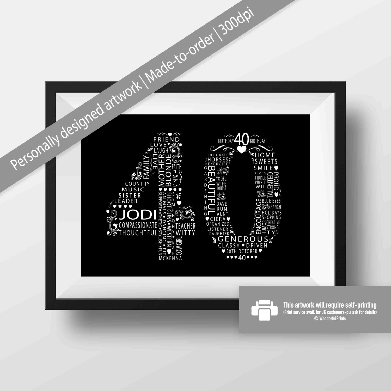 Funny 40th Birthday Gifts Presents For: 40th Birthday Gift For Women / Friend / Mom / Sister
