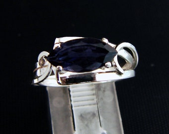 Dewberry Tease -  Blue Iolite ring