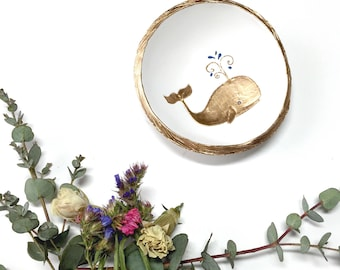 Whale Jewelry Dish / Spirit Animal / Truth and Wisdom / Personalized Jewelry Dish / Personalized Ring Dish / Bridesmaids Gift /Gifts for Her