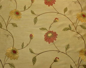 REMNANT Embroidered Polyester Fabric 54 inches x 1.25 yards