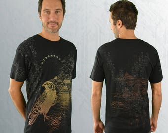 Bamboo T-shirt - 'Horus' - Black
