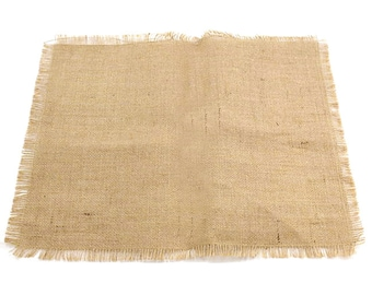Jute Table Sheet with Fringed Edge, Natural