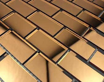 Reflect Brick brown glass mosaic