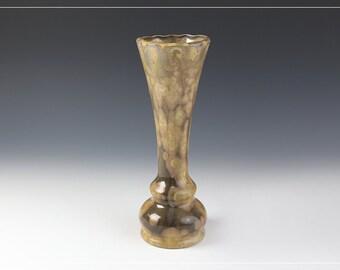 "Vase Mid Tulip - Crystalline Glaze - ""Black Swallowtail"""