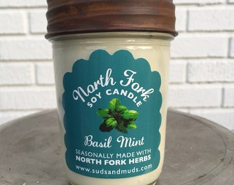 Local North Fork Soy Candle - Basil Mint