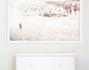 "Minimalist Beach Print // Neutral Colors Beach Photography // Large Beach Prints // Large Beach Photography // Living Room// ""Mermaid"""