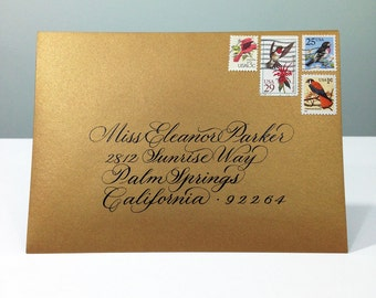 Calligraphy Envelope Addressing in Eleanor Script